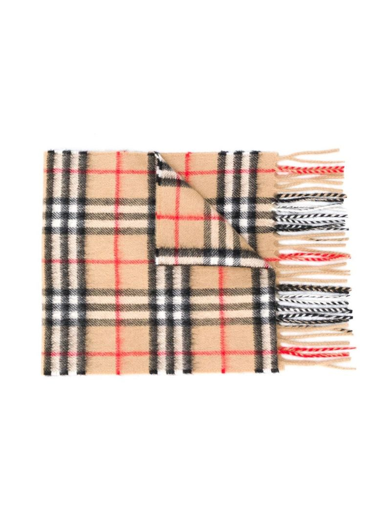 BURBERRY CHILDREN: Vintage check cashmere scarf_1
