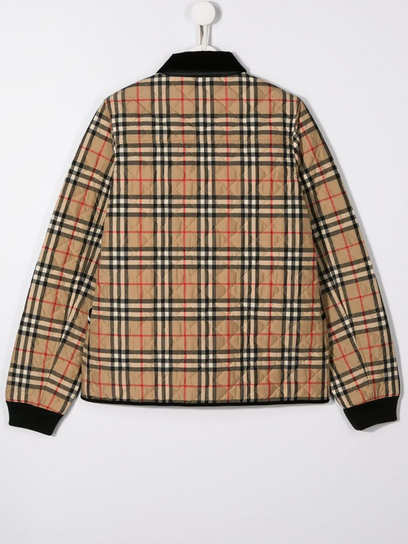 BURBERRY CHILDREN: Vintage check nylon quilted jacket_2