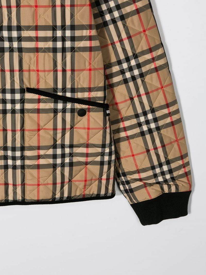 BURBERRY CHILDREN: Vintage check nylon quilted jacket_3