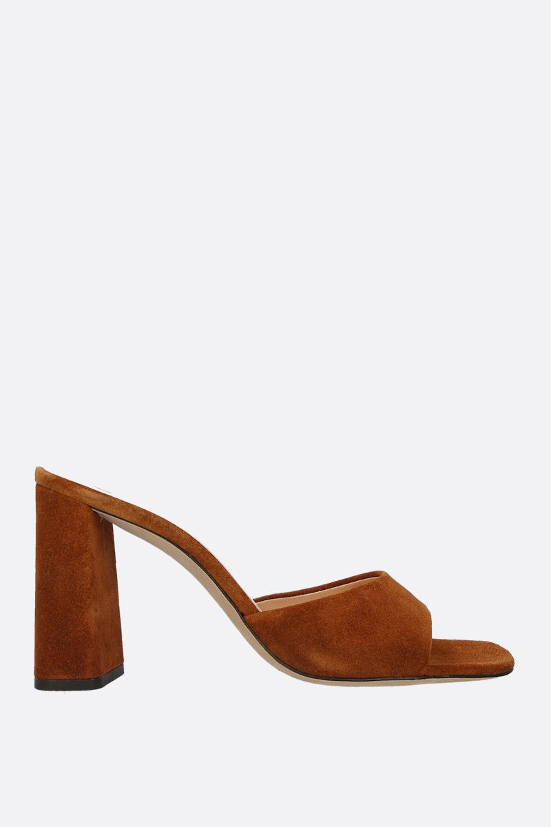 BY FAR: sandalo mule Juju in morbido suede Colore Marrone_1