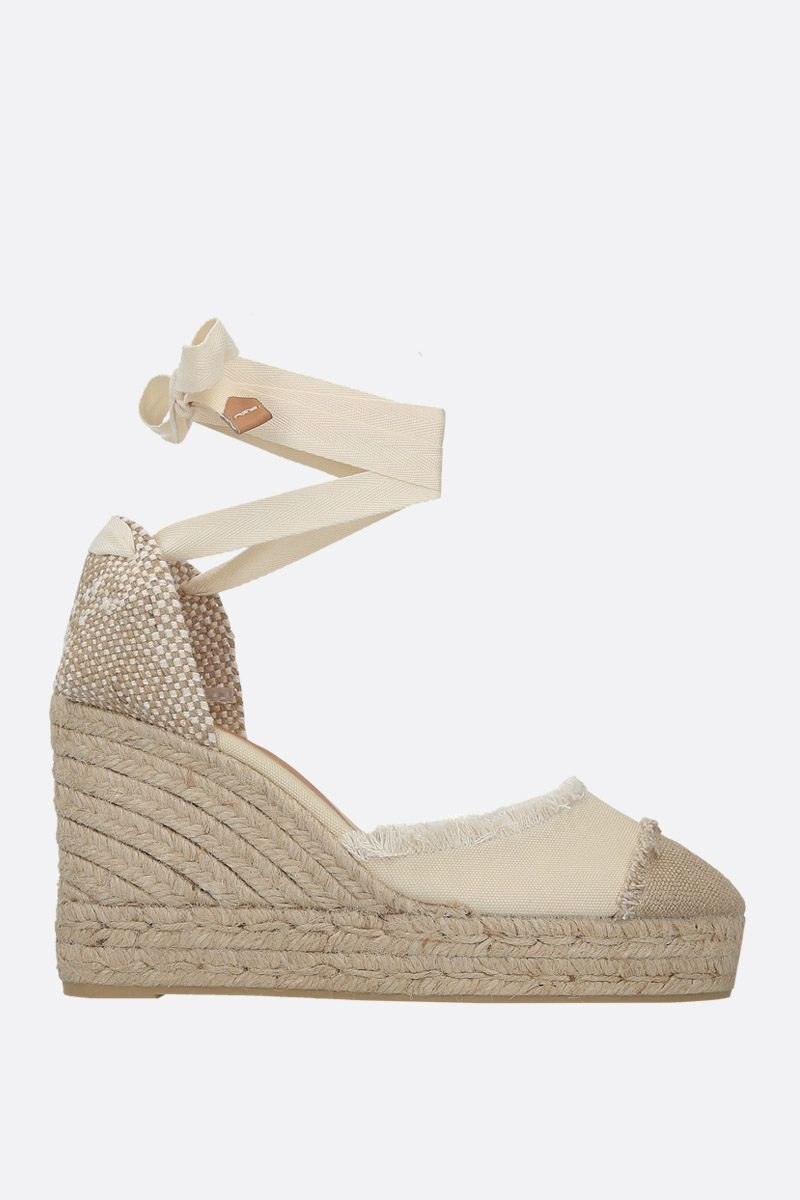 CASTANER: Catalina wedge espadrilles in canvas and jute Color White_1