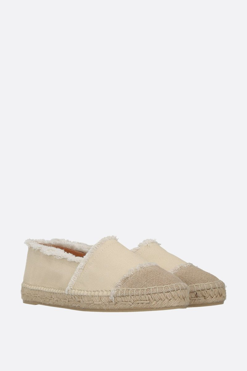 CASTANER: Kampala espadrilles in canvas and jute Color White_2