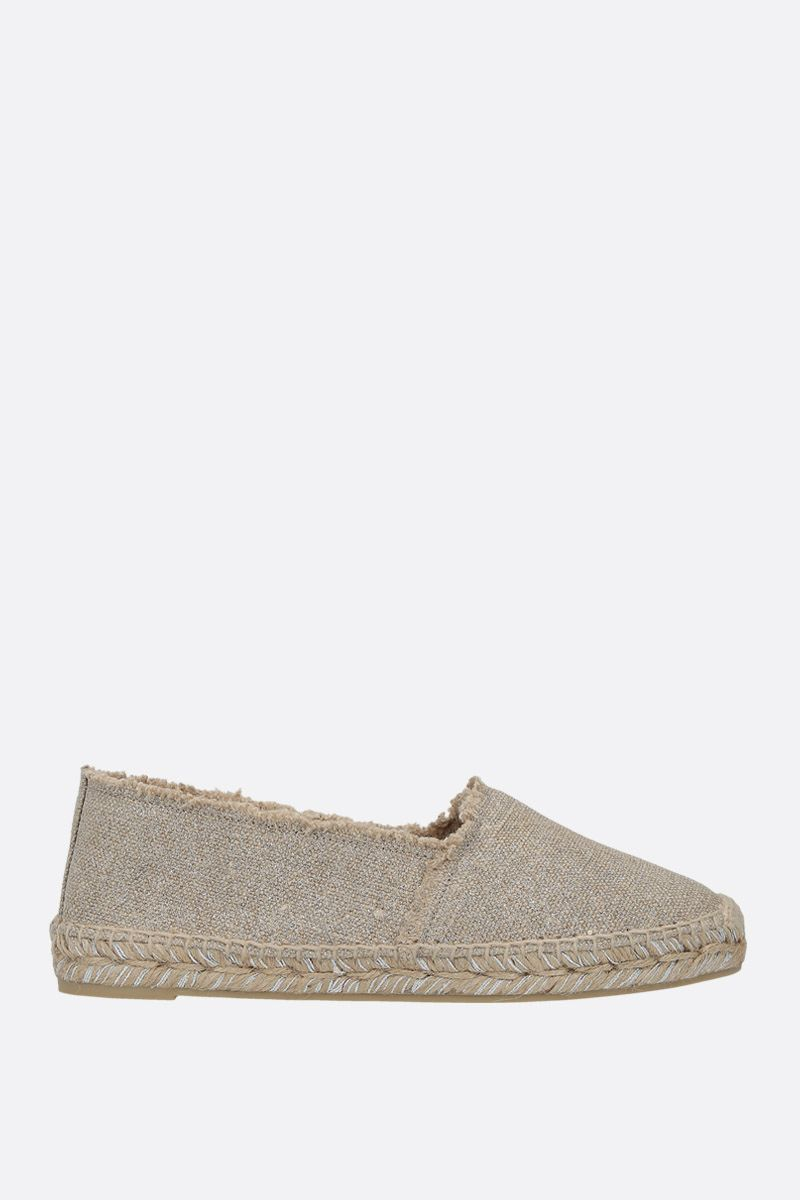 CASTANER: Kito espadrilles in canvas and jute Color Silver_1