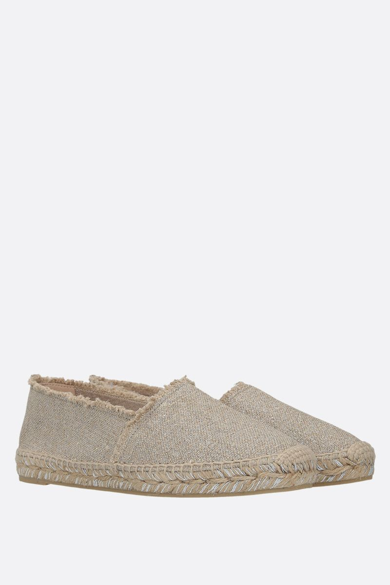 CASTANER: Kito espadrilles in canvas and jute Color Silver_2