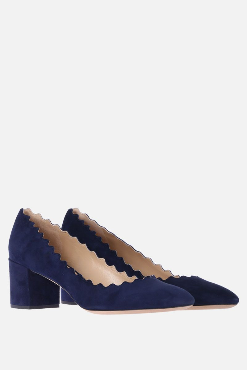 CHLOÈ: Lauren suede pumps Color Blue_2