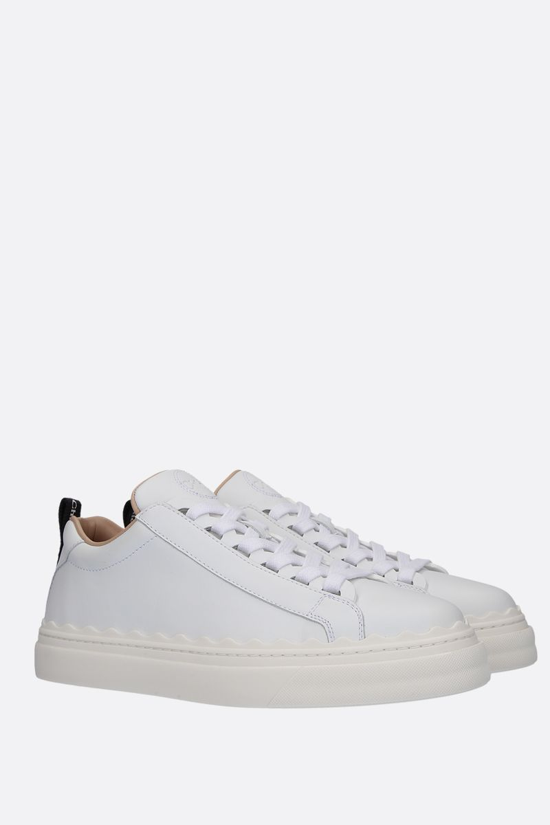 CHLOÈ: Lauren sneakers in smooth leather Color White_2