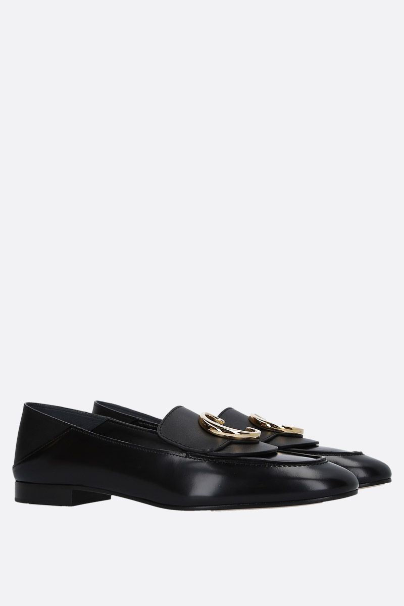 CHLOÈ: Chloè loafers in shiny leather Color Black_3