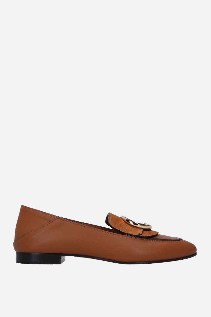 CHLOÈ: Chloè loafers in smooth leather and suede_1