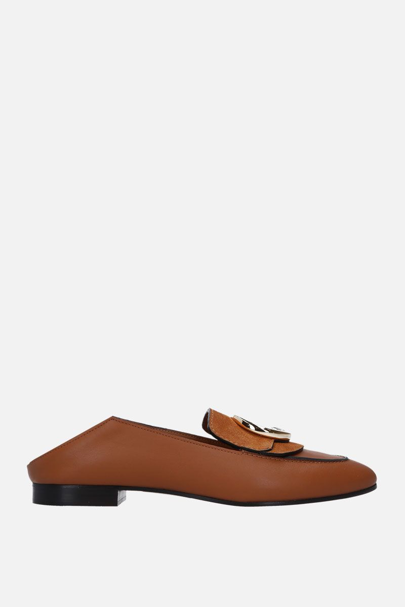 CHLOÈ: Chloè loafers in smooth leather and suede_2
