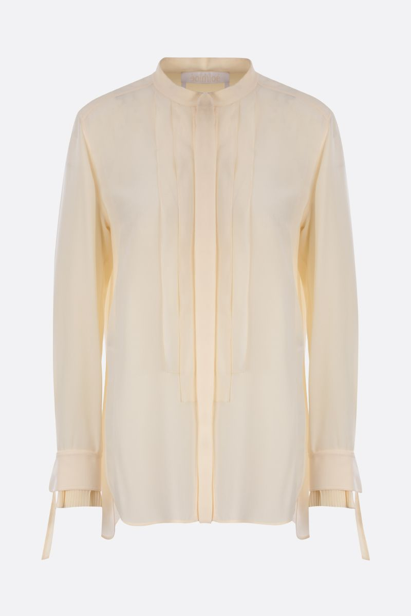 CHLOÈ: silk organdy shirt Color Neutral_1