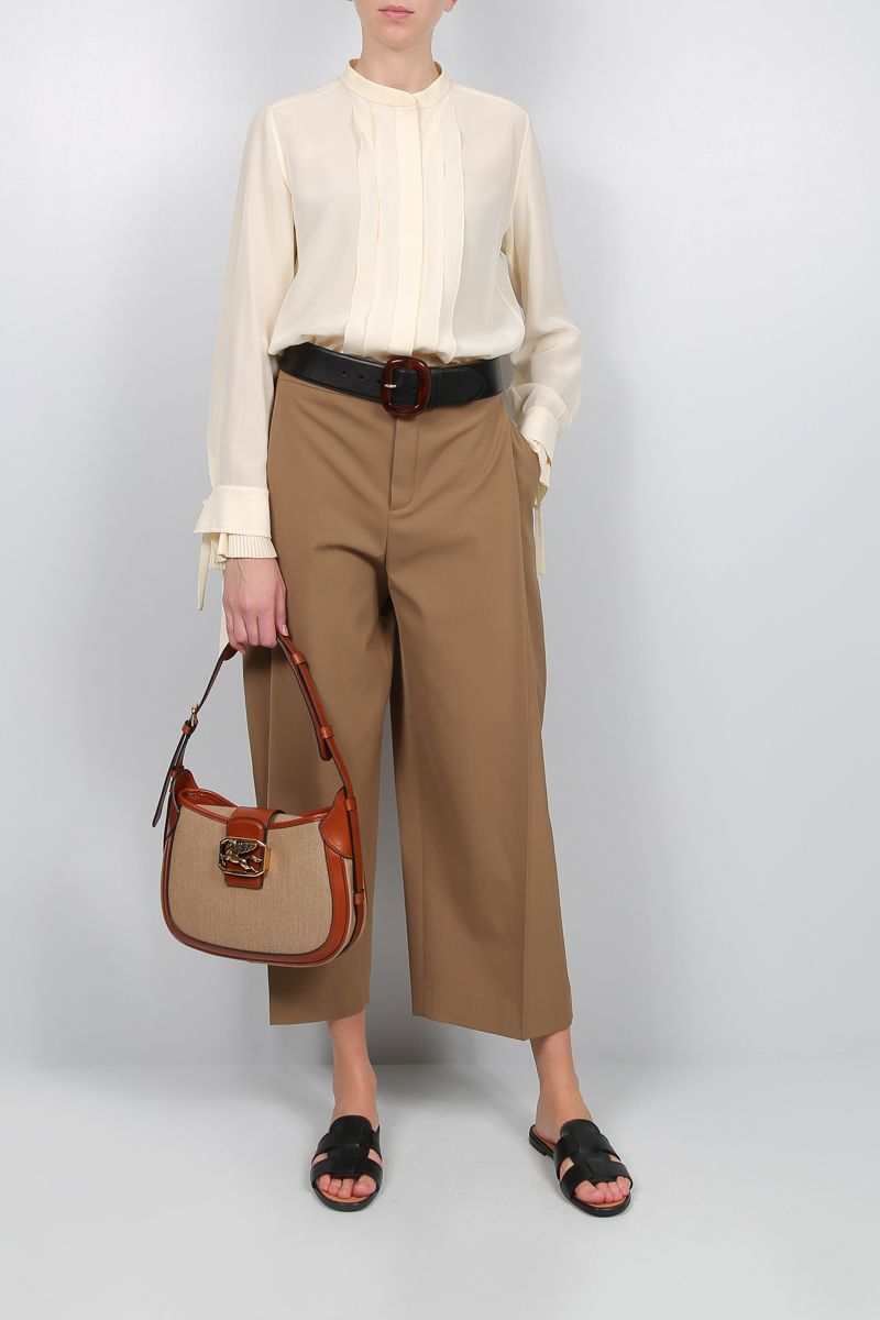 CHLOÈ: silk organdy shirt Color Neutral_2