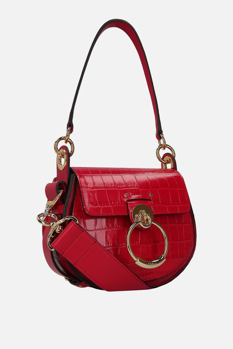 CHLOÈ: Tess small handbag in crocodile embossed leather_2