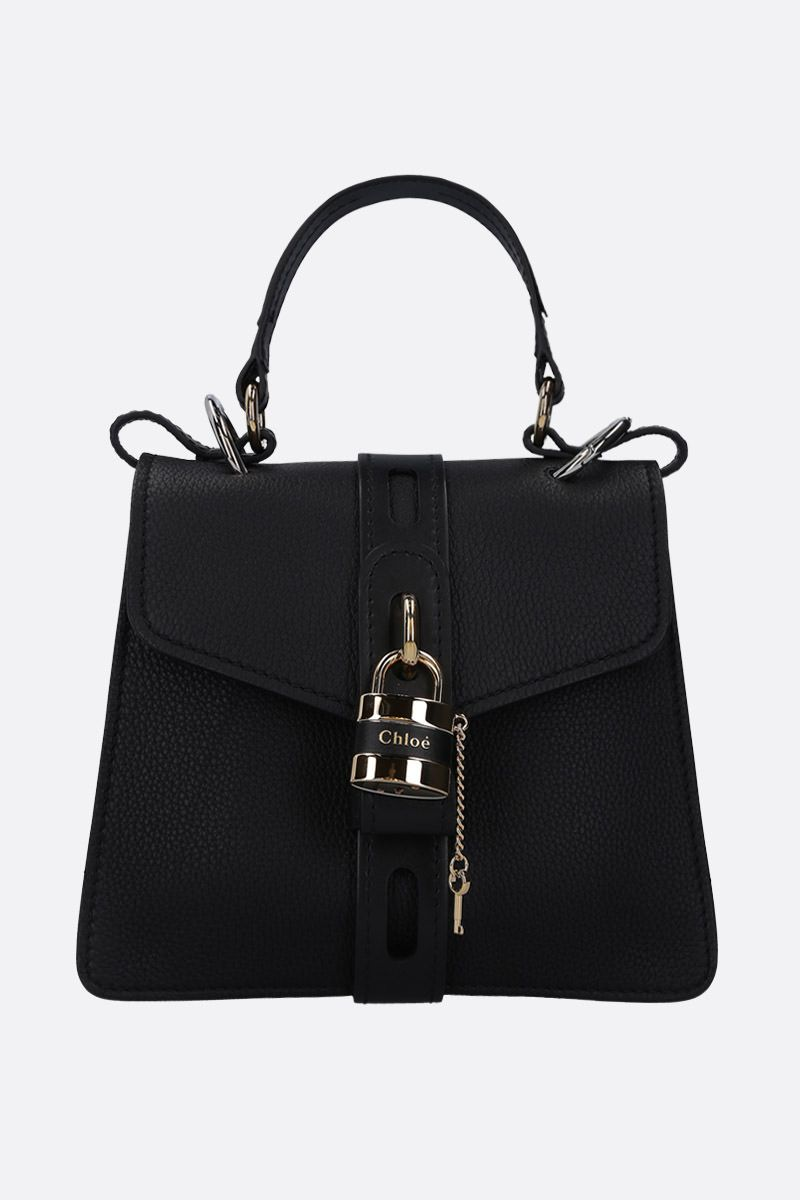 CHLOÈ: Aby small handbag in grainy leather Color Black_1