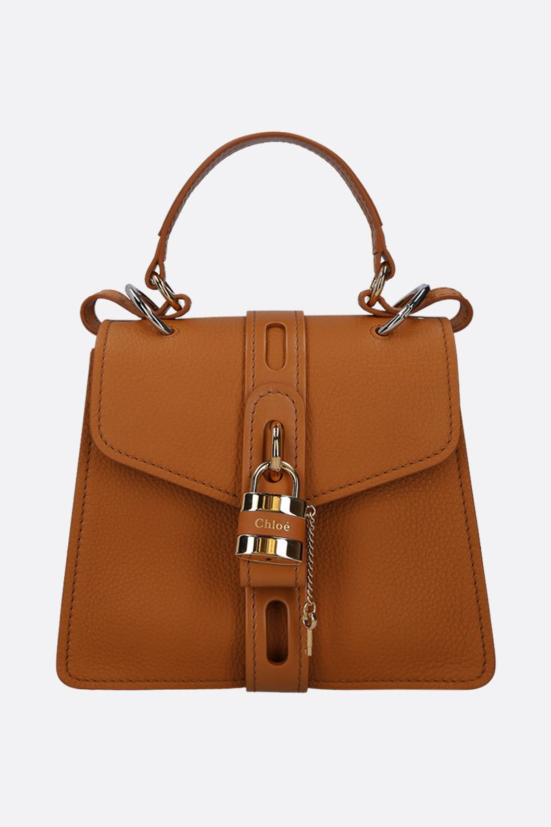 CHLOÈ: Aby small handbag in grainy leather_1