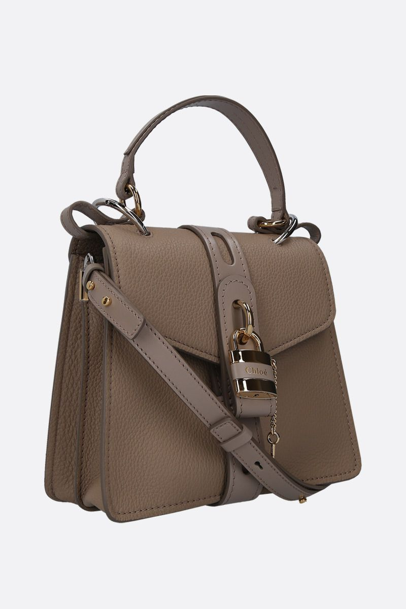CHLOÈ: Aby small handbag in grainy leather Color Grey_2