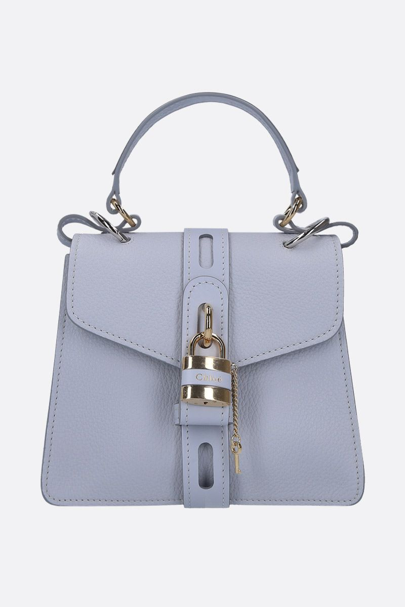 CHLOÈ: Aby small handbag in grainy leather Color Grey_1