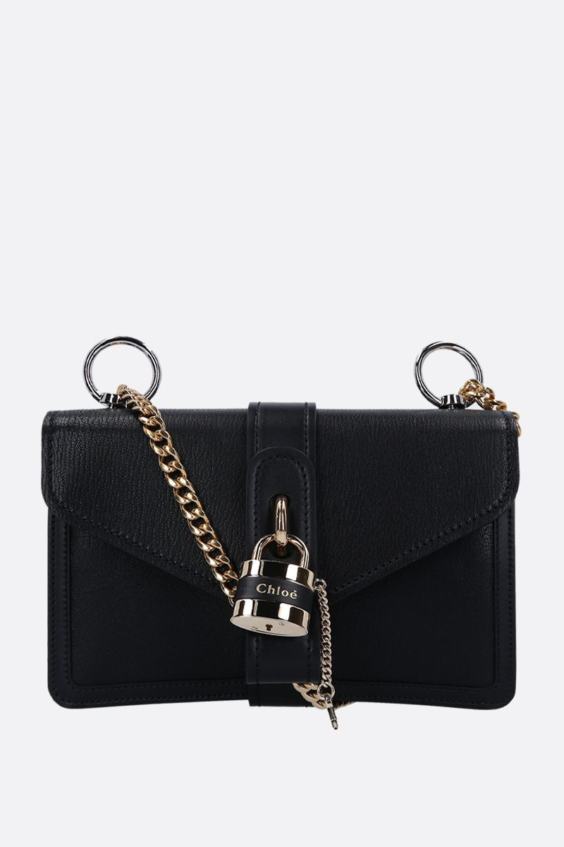 CHLOÈ: Aby shoulder bag in textured leather Color Black_1