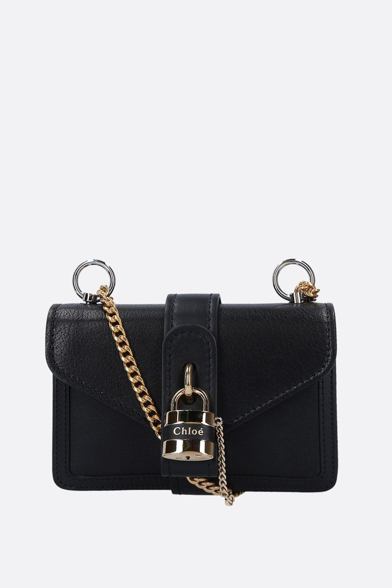 CHLOÈ: Aby small shoulder bag in smooth leather Color Black_1