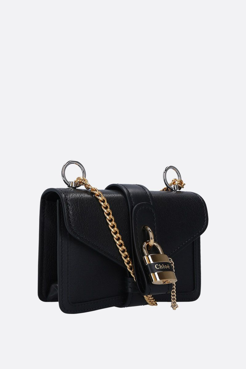 CHLOÈ: Aby small shoulder bag in smooth leather Color Black_2