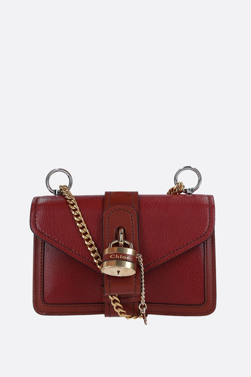 CHLOÈ: Aby small shoulder bag in smooth leather Color Brown_1