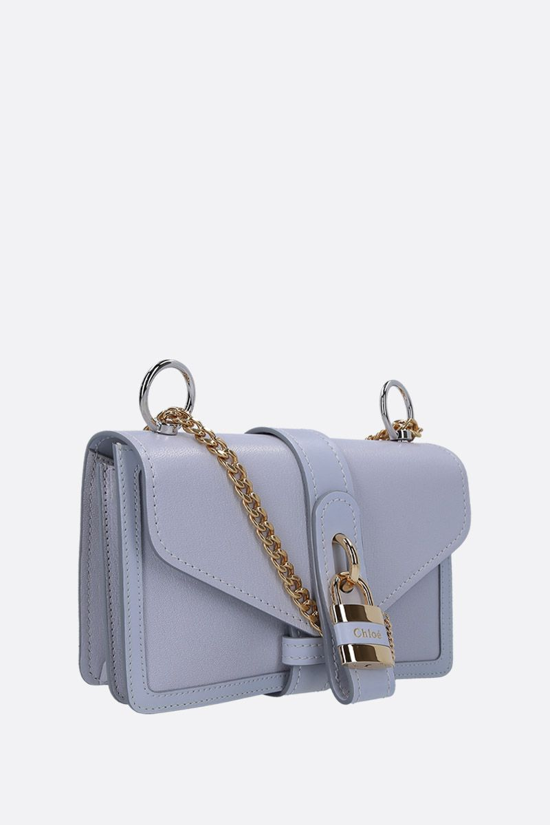 CHLOÈ: Aby small shoulder bag in smooth leather Color Grey_2