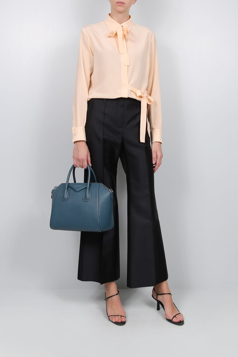 CHLOÈ: lavallière silk shirt Color Pink_2