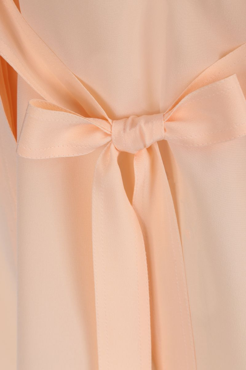 CHLOÈ: lavallière silk shirt Color Pink_4