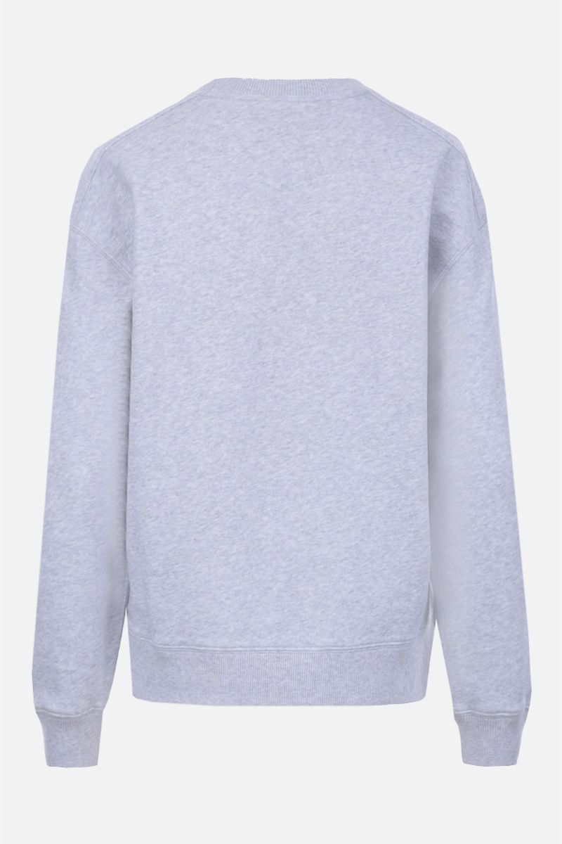 CHLOÈ: logo print cotton sweatshirt Color Grey_2