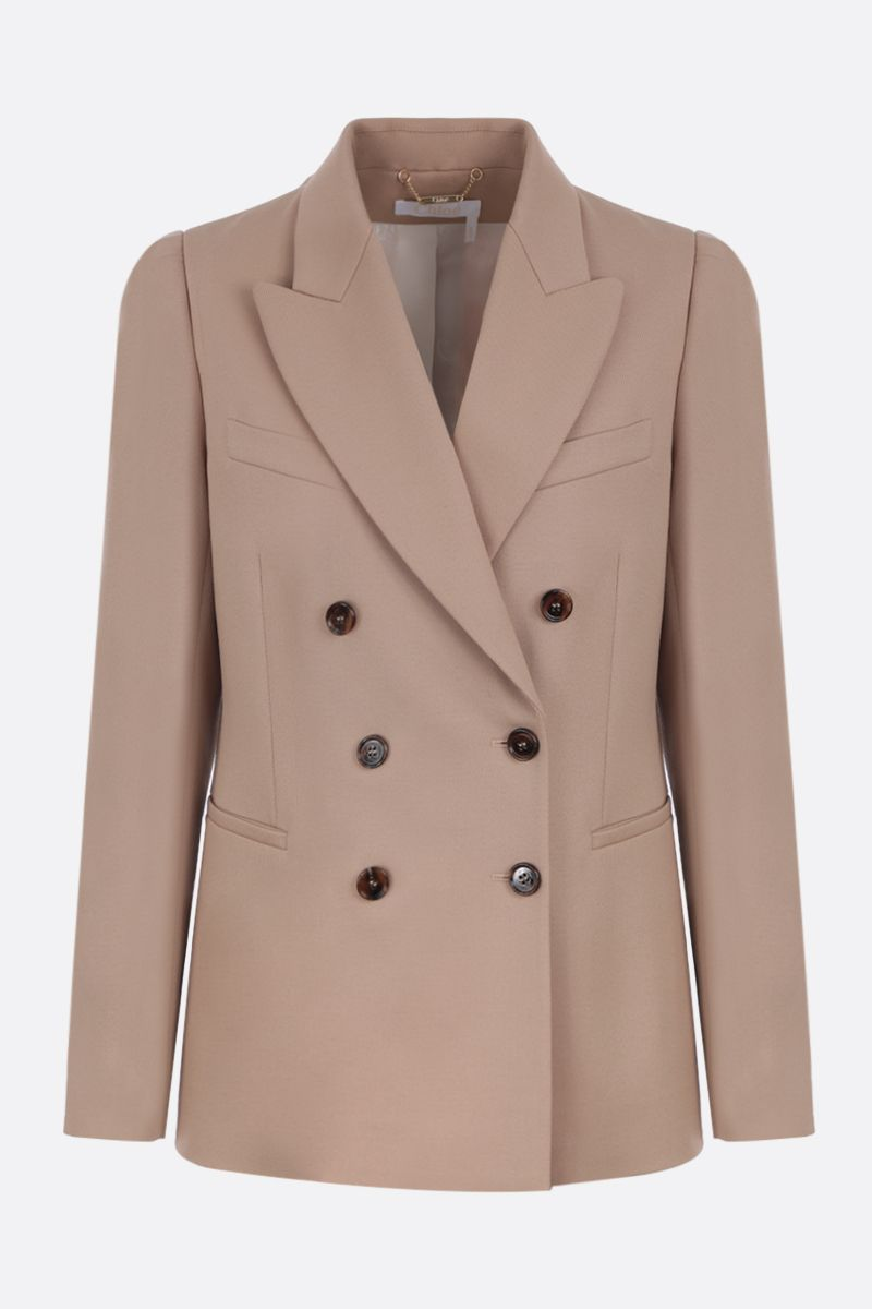 CHLOÈ: double-breasted jacket in stretch wool_1