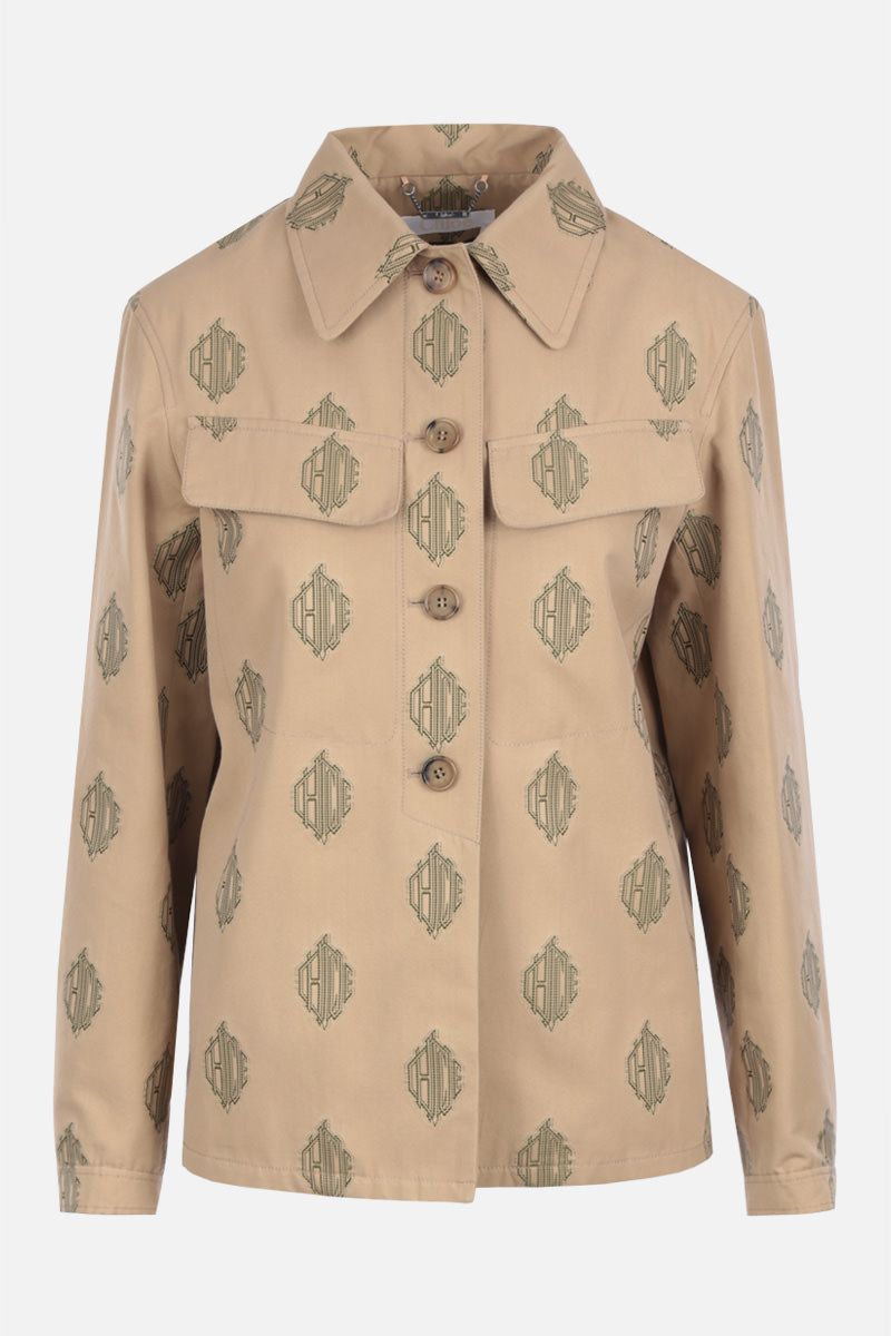 CHLOÈ: single-breasted jacket in cotton jacquard Color Neutral_1