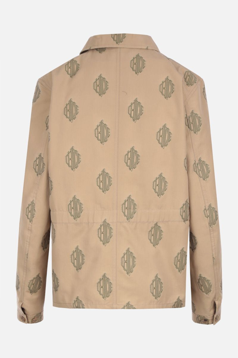 CHLOÈ: single-breasted jacket in cotton jacquard Color Neutral_2