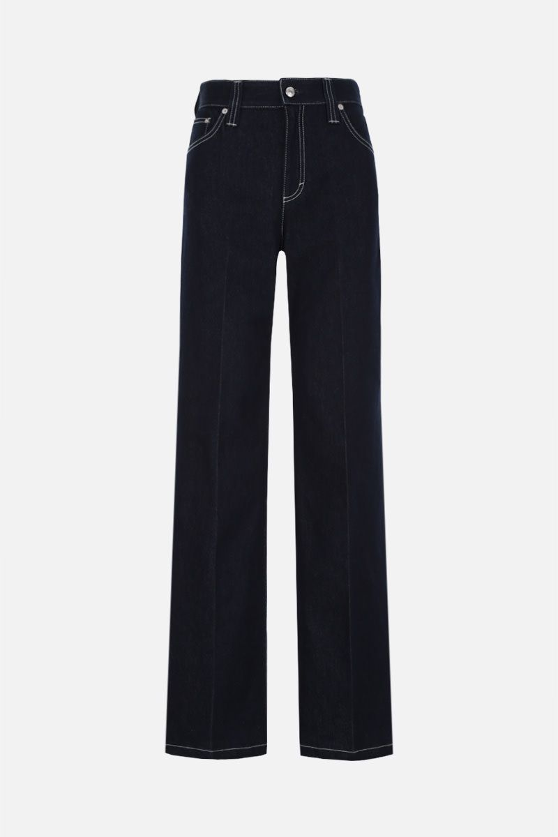 CHLOÈ: wide-leg jeans Color Blue_1