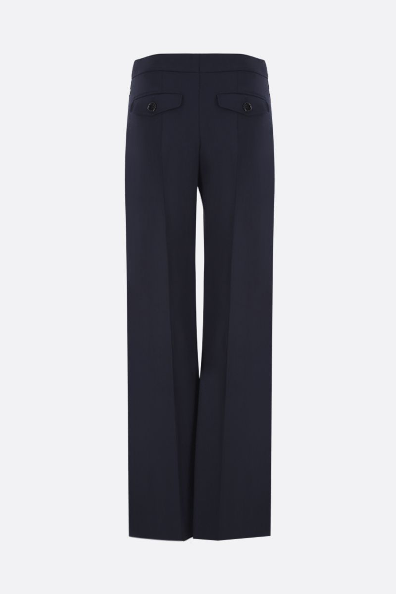CHLOÈ: regular-fit pants in stretch wool Color Blue_3