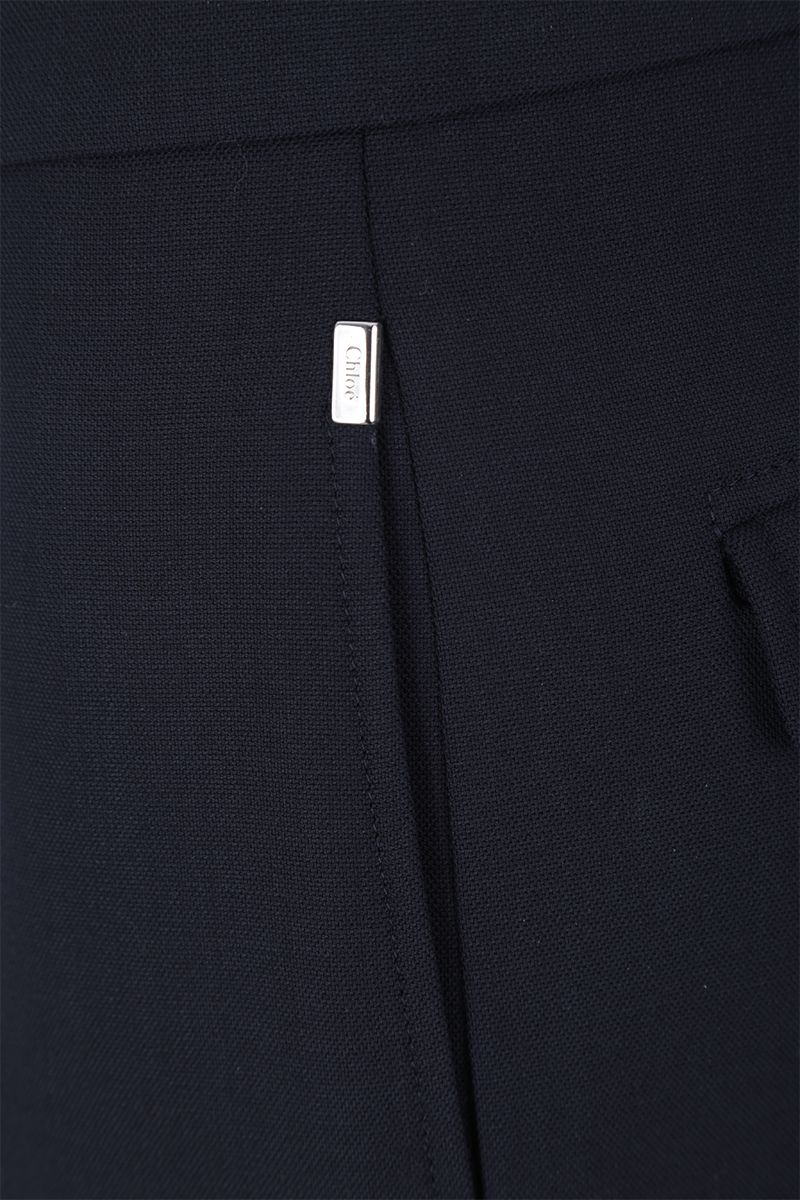 CHLOÈ: regular-fit pants in stretch wool Color Blue_5