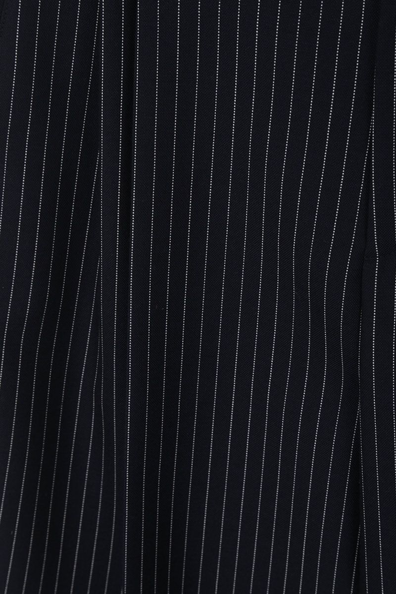CHLOÈ: pinstriped wool carrot-fit pants Color Blue_5