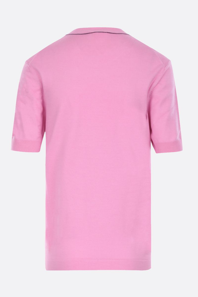 CHLOÈ: short-sleeved pullover in wool silk blend Color Pink_2
