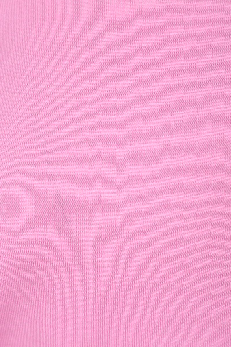 CHLOÈ: short-sleeved pullover in wool silk blend Color Pink_4