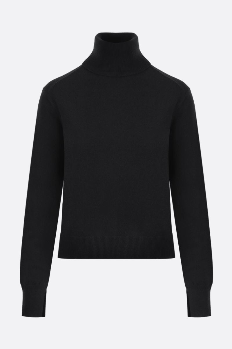 CHLOÈ: C embroidered cashmere blend turtleneck Color Black_1