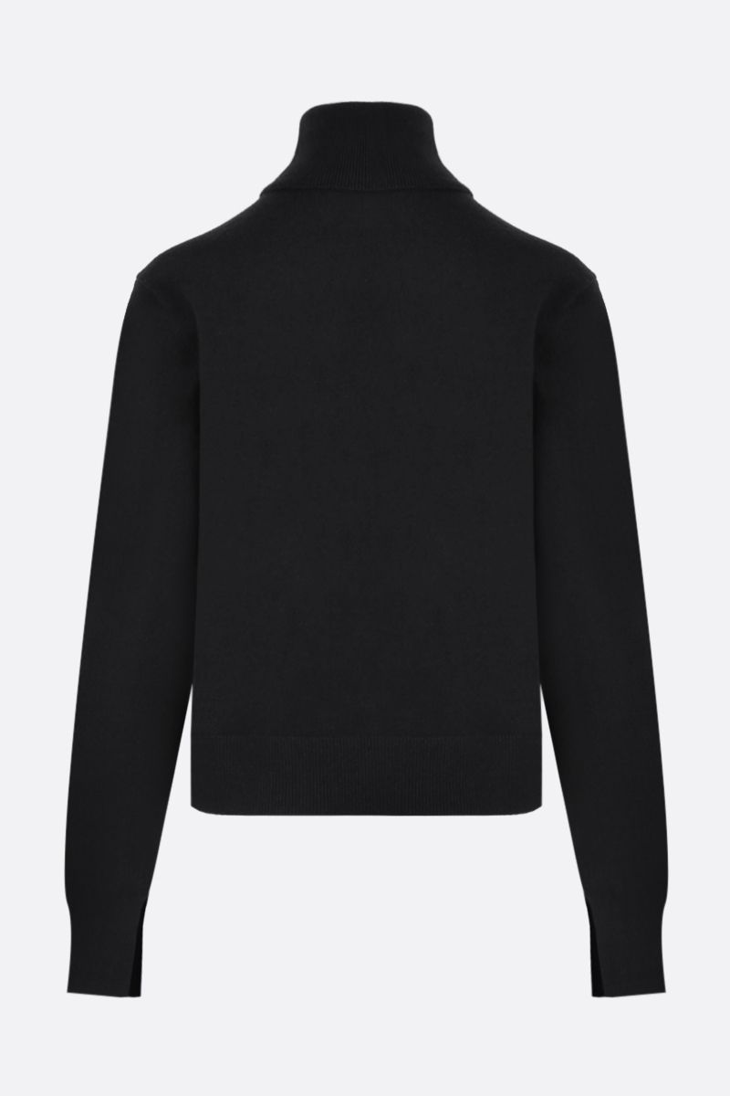 CHLOÈ: C embroidered cashmere blend turtleneck Color Black_2