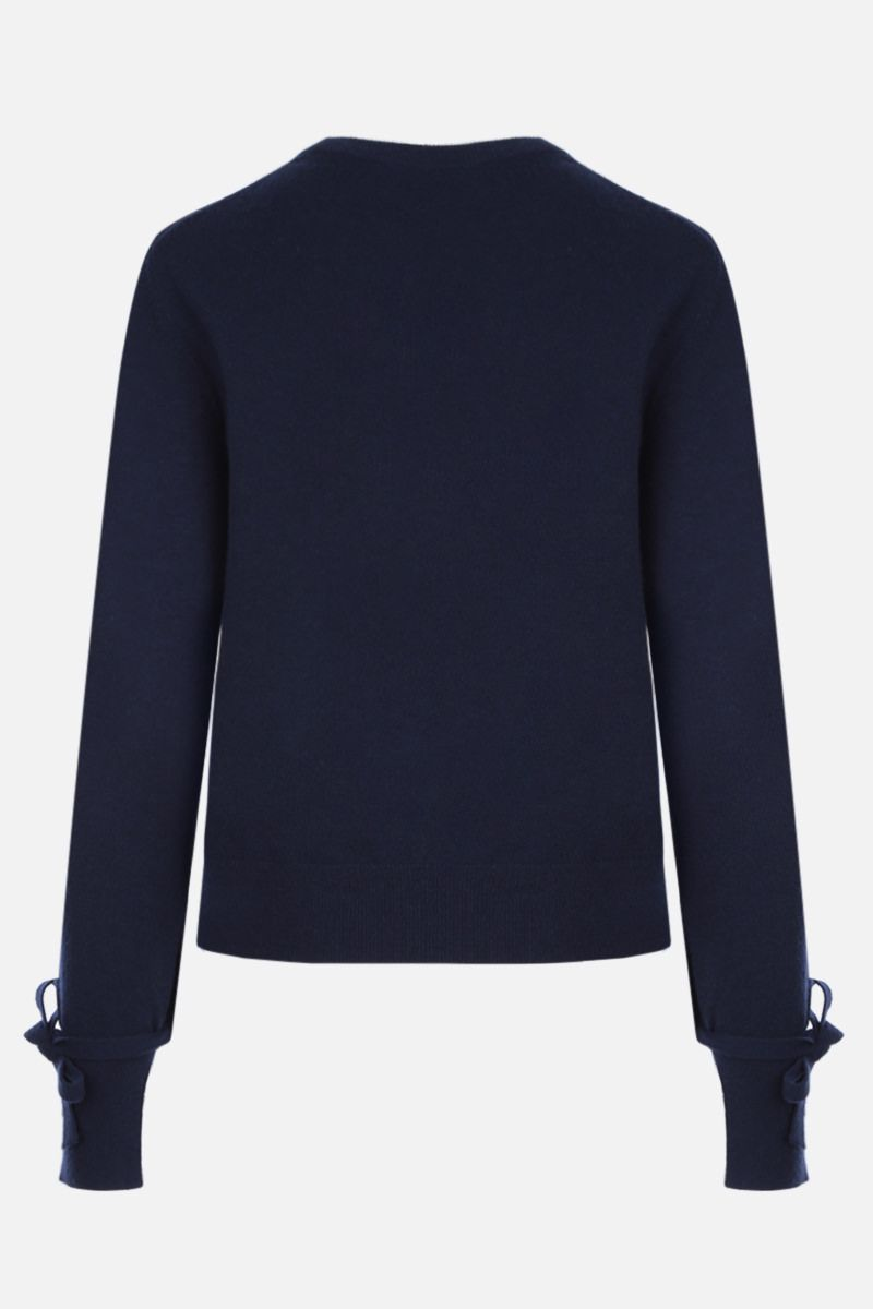 CHLOÈ: cashmere pullover withh wrist ties Color Blue_2