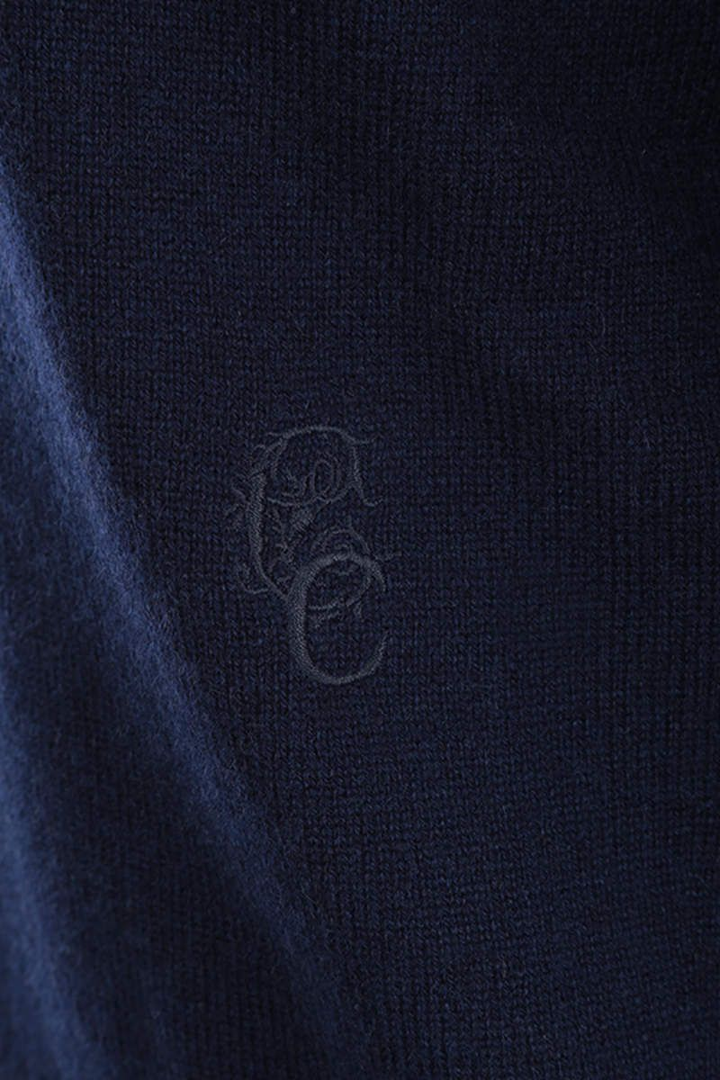 CHLOÈ: cashmere pullover withh wrist ties Color Blue_4
