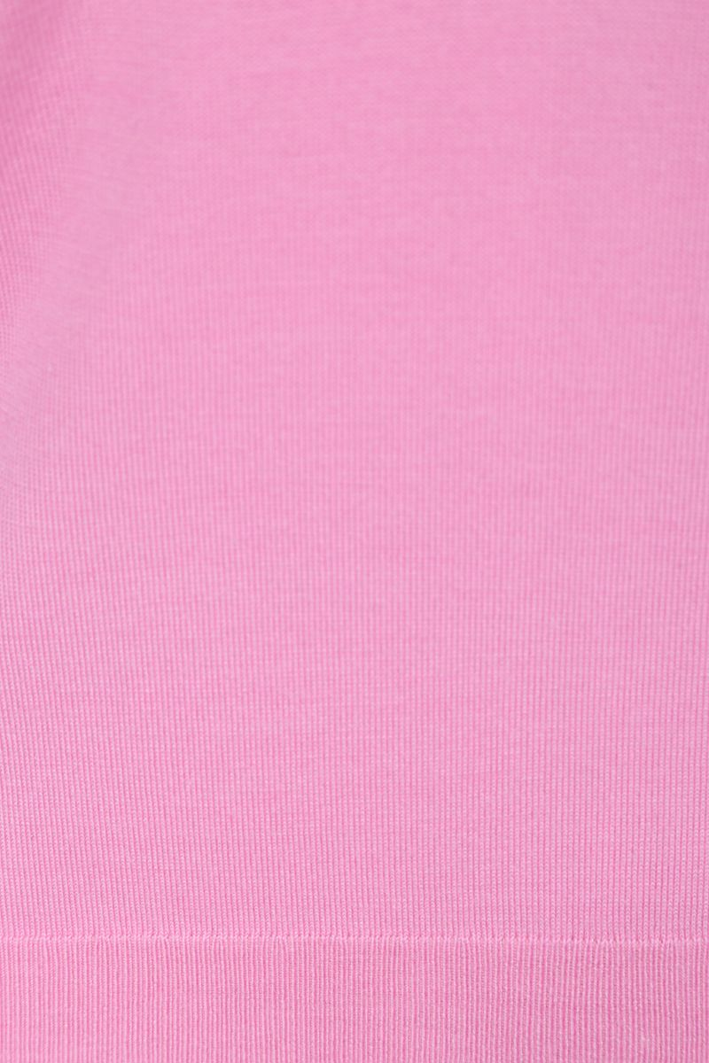 CHLOÈ: monogram intarsia wool silk blend pullover Color Pink_4