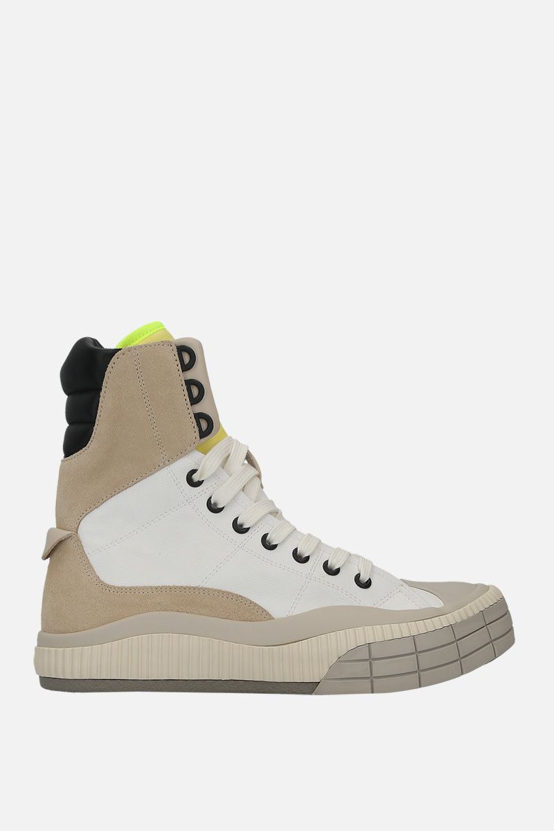 CHLOÈ: sneakers high-top Clint in nylon e suede_1
