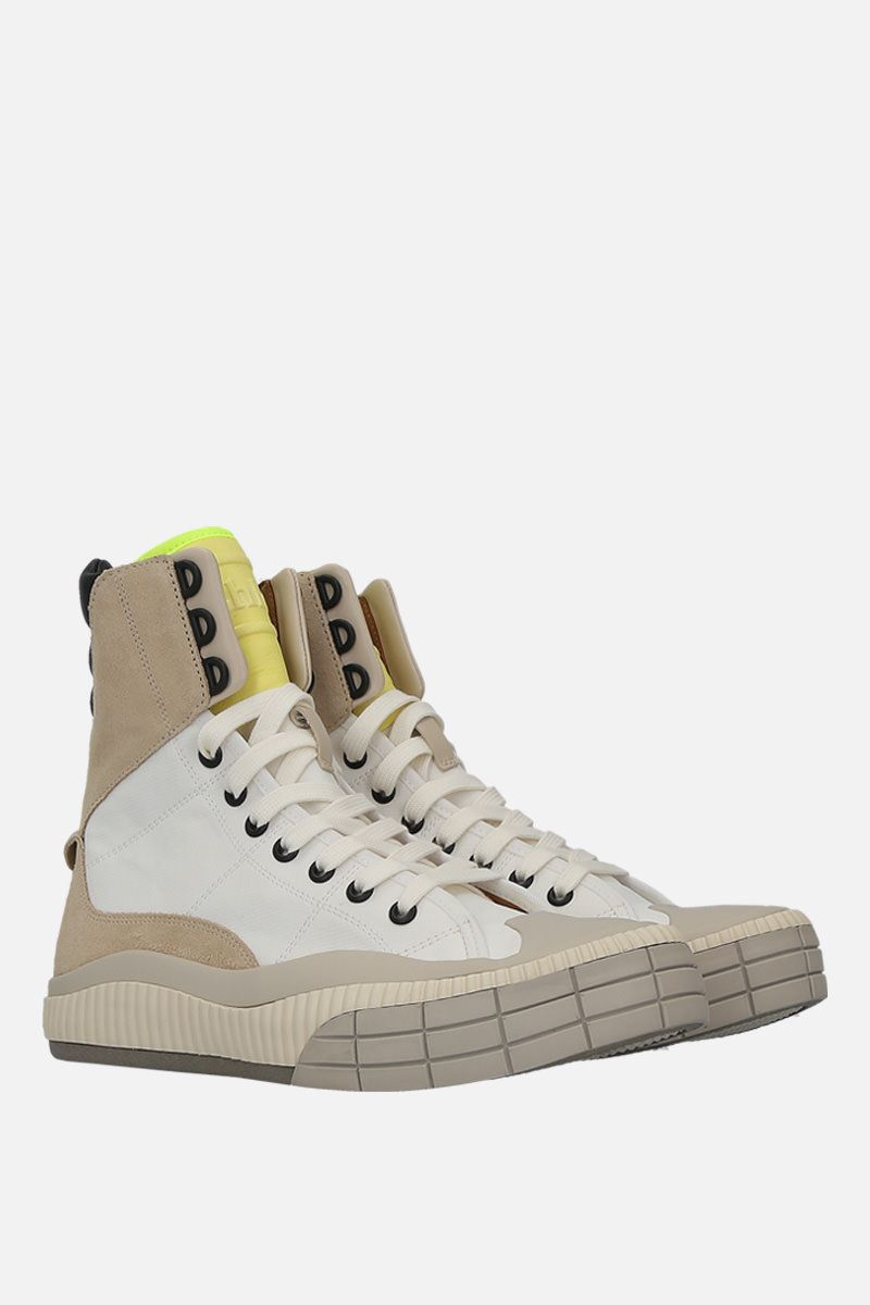 CHLOÈ: Clint high-top sneakers in nylon and suede_2