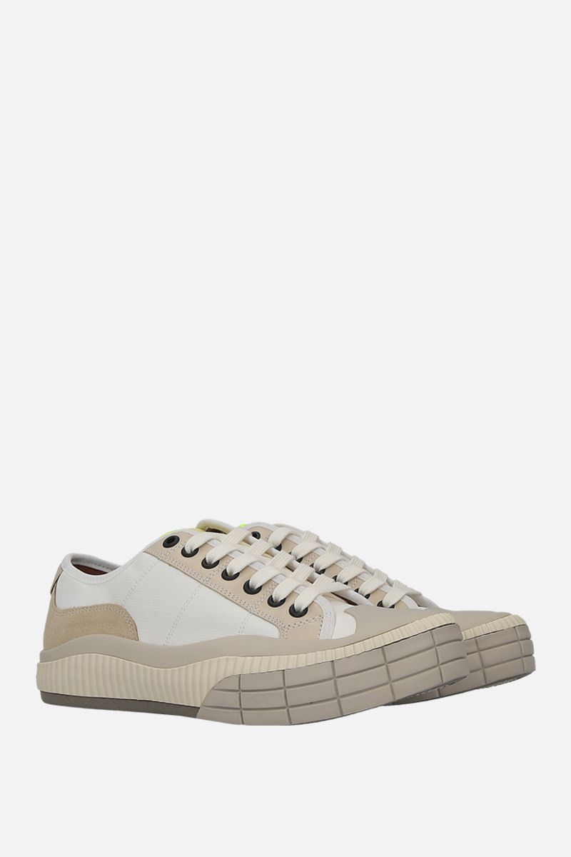 CHLOÈ: Clint low-top sneakers in nylon and suede_2