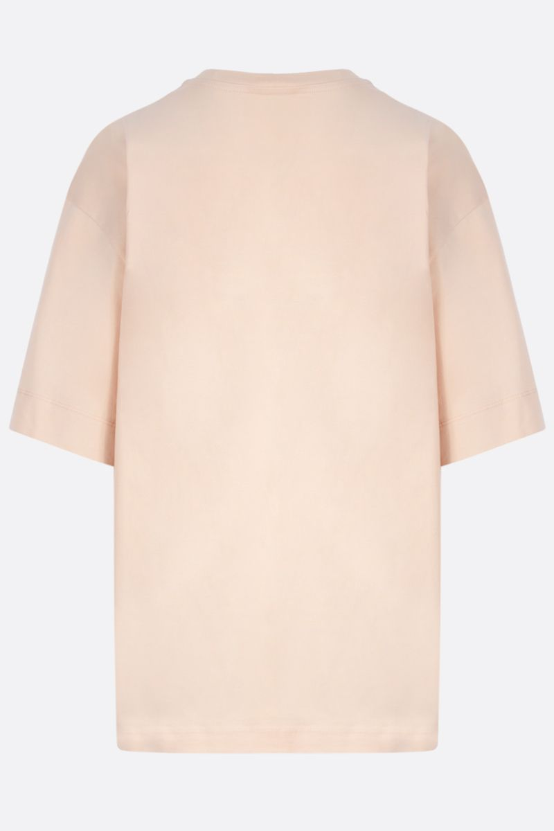 CHLOÈ: logo print cotton t-shirt Color Pink_2