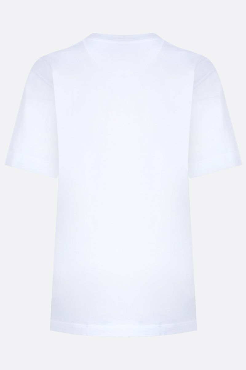 CHLOÈ: logo embroidered cotton t-shirt Color White_2