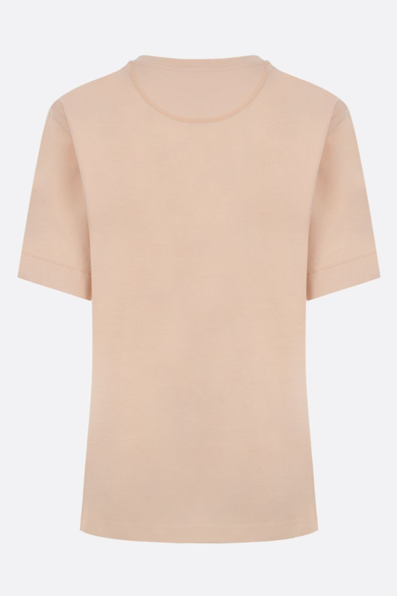 CHLOÈ: logo embroidered cotton t-shirt Color Neutral_2