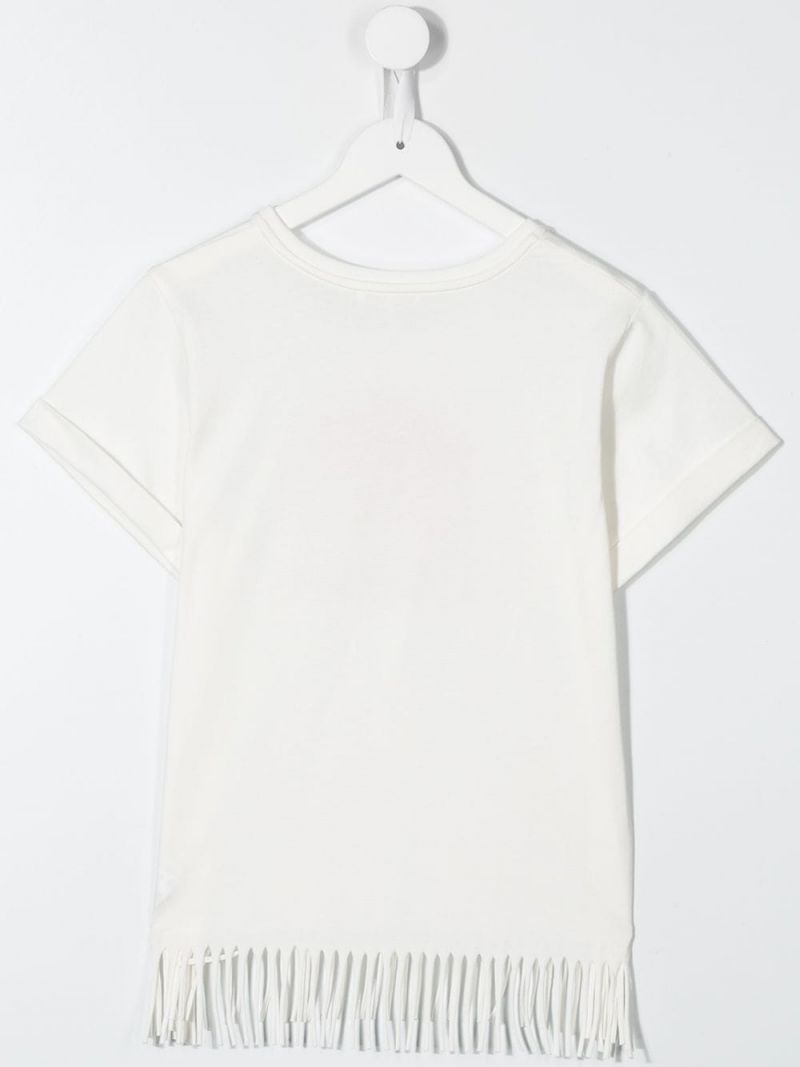 CHLOÈ KIDS: sunset logo print cotton t-shirt Color Neutral_2