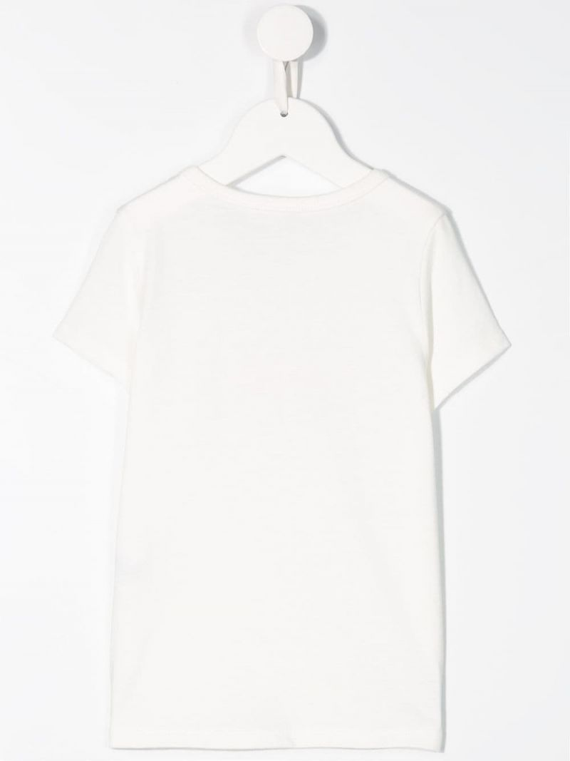 CHLOÈ KIDS: logo print cotton blend t-shirt Color Neutral_2